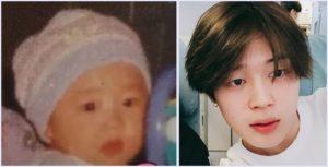 BTS,ジミン,すっぴん,赤ちゃん,比較,画像