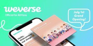 BTSの所属事務所であるBig Hit Entertainmentが、2019年7月に公式ファンコミュニティアプリ、『BTS Weverse』を開設しました。